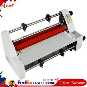 V350 13 Hot Cold Roll Laminator Single dual Sided Laminating Machine 110v 350mm