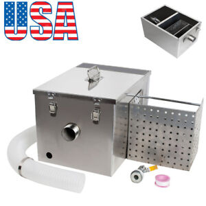 Stainless Steel Grease Trap Interceptor Detachable Kitchen Wastewater Fast Ship