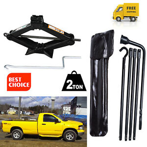 For 2002 2015 Dodge Ram 1500 Lug Wrench 2t Lifting Jack Spare Tire Tools Kit