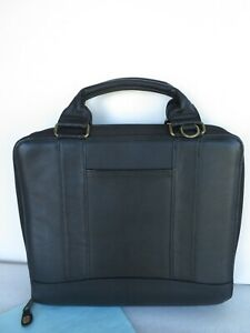 Franklin Covey Monarch 7 Ring 1 75 Leather Binder Planner Spacemaker Zip Handle