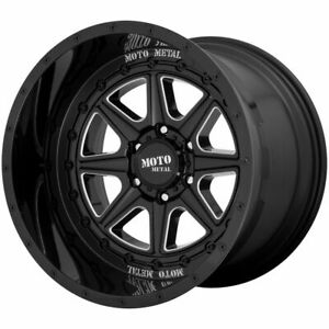 4 new 22 Moto Metal Mo801 Phantom Wheels 22x12 6x5 5 6x139 7 44 Black Milled R