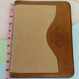 Vintage Ghurka Marley Hodgson Canvas Leather Notepad Wire Binder Portfolio