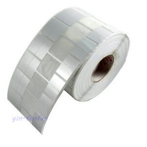 1000 Jewerly Label Stickers Folded Size 25x15mm Silver Color Blank