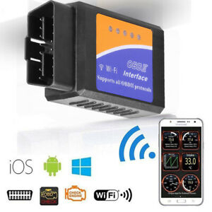 Odb2 Obdii Wifi Auto Car Diagnostic Scanner Tool Code Reader For Android Pc