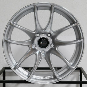 4 new 17 Vors Tr4 Wheels 17x8 17x9 5x105 35 30 Silver Machined Staggered Rims 7