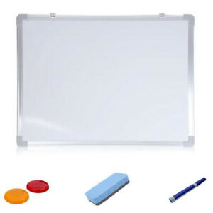 2x 35x50cm Double sided Small Dry Erase Magnetic Whiteboard Calendar For Wa G1a0