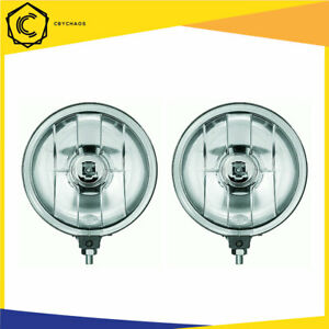 Hella Rallye Ff500 H3 12v 55w Round Halogen Driving Light Lamp With Relay White