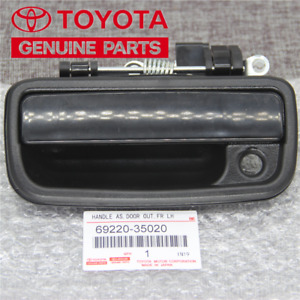 Front Left Driver Side Black Exterior Door Handle Fit 1995 2004 Toyota Tacoma