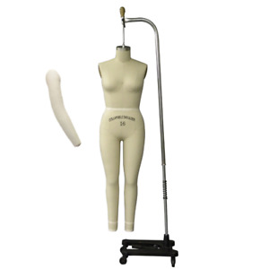 Pro Female Full Body Dress Form With Legs And Collapsible Shoulders Size 16