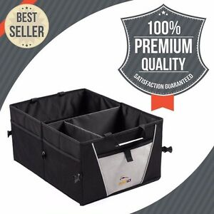 Trunk Organizer Car Truck Van Or Suv Premium Quality 3 Section Foldable New