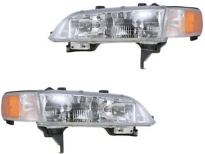 Headlights Headlamps For 94 97 Accord Sedan Coupe Left Right Replacement Set