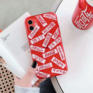 Fluorescent Coca-Cola iPhone Case Cover For For iPhone 11 Pro Max XR XS 8 7 Plus