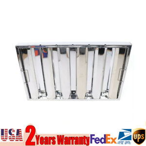 6 Pack Stainless Steel Hood Grease Kitchen Exhaust Filter Baffle 25 W X 16 H
