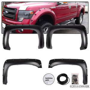 Pocket Rivet Wheel Fender Flares For 07 14 Chevy Silverado 1500 2500hd 3500hd