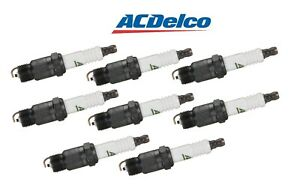 Set Of 8 Spark Plugs Acdelco For Buick Checker Chevy Gmc Oldsmobile Pontiac V8