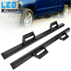 Running Boards For 07 18 Chevy Silverado 1500 Double Cab Drop Side Step Nerf Bar