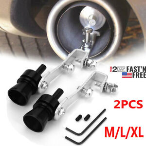 2x Exhaust Pipe Oversized Roar Maker Car Turbo Sound Whistle Simulator M L Xl