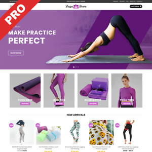 Turnkey Business Yoga Dropshipping Store With Premium Features No Any Fees