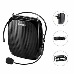 Zoweetek Portable Rechargeable Mini Voice Amplifier With Wired Microphone