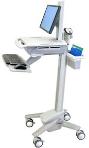 Ergotron Styleview Emr Sit to stand Medical Computer Cart Sv41 41021