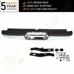 New Chrome Complete Rear Steel Bumper Assembly For 1995 1999 Toyota Tacoma