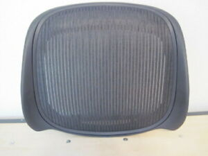 Herman Miller Aeron Chair Reinforced Seat Graphite Size B Med Parts New 29