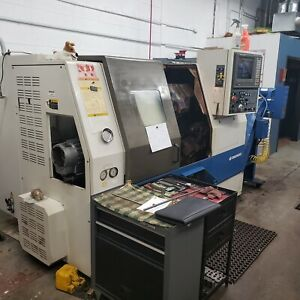 Used Daewoo Puma 200mc Live Tool Cnc Turning Center Lathe Fanuc Doosan Tailstock