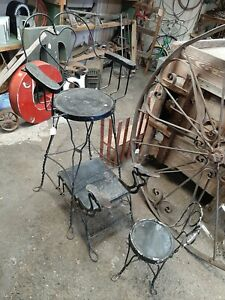 1920s Twisted Wire Shoeshine Chairs