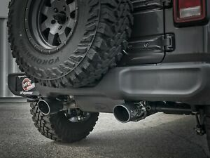 Afe 2018 Jeep Wrangler Jl Wrangler Unlimited Jlu 3 6l Axle back Exhaust Black