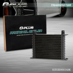 New 15 Row Universal Aluminum Engine Transmission An 10an Oil Cooler Black
