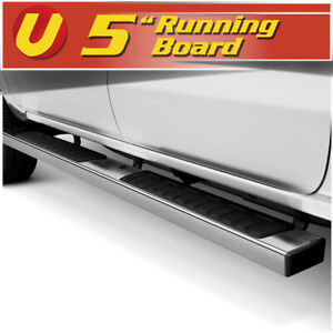 5 Chrome Running Boards Side Steps Fits 2015 2020 Chevy Colorado Crew Cab