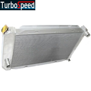 New For 71 73 Ford Mustang country Sedan squire V8 Full Aluminum Racing Radiator
