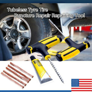 Tubeless Tire Repair Kit Diy Flat For Car Truck Motorcycle Home Tyre Plug Patch