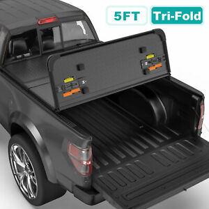 Tri fold 5ft Hard Truck Tonneau Cover For 05 15 Toyota Tacoma Extra Short Bed