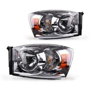 For 2007 2008 Dodge Ram 1500 2500 3500 Replacement Headlights Lamps Left right