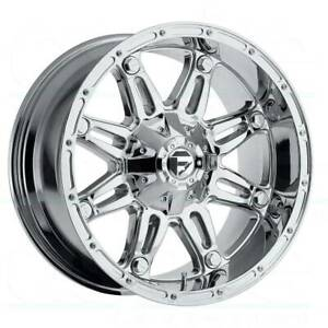 4 New 20 Fuel D530 Hostage Wheels 20x12 8x170 44 Chrome Rims