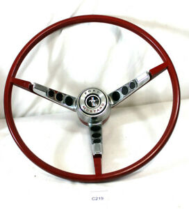 1965 1966 65 66 Ford Mustang Steering Wheel with New Horn Ring Contact Kit