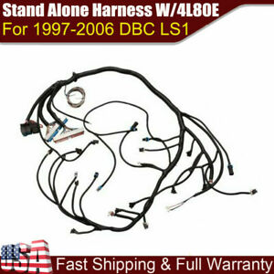 1997 2006 Dbc Ls1 Stand Alone Harness W 4l80e 4 8 5 3 6 0 Vortec Drive By Cable