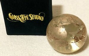 CONFETTI GOLD FOIL Paperweight by Glass Eye Studio Made in the USA 426