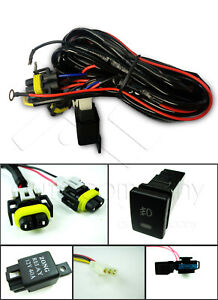 For Toyota Fog Light Wiring Harness Wiring Kit W Oe Style Switch And Relay