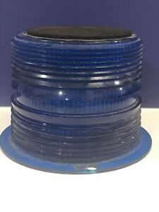 Vintage Blue Beacon 6 base Light Lens Police Emergency Vehicle Dome Cover