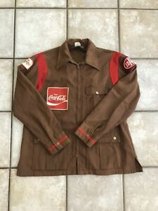 Vintage Coca Cola Driver Employee Work Jacket Embroidered Patch XL RARE!!!