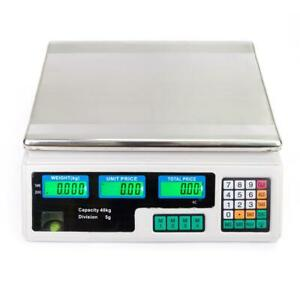 88 Lbs Digital Weight Scale Price Computing Food Meat Scale Produce Deli Fruit