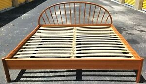 1960 S Jesper Furniture Denmark King Size Bed Frame Mid Century Danish Modern