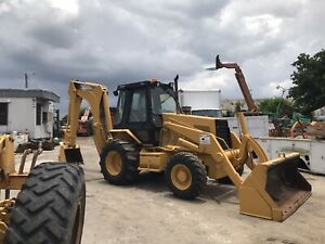 1998 Caterpillar 446 Enclosed Cab Backhoe