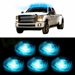 5x Clear Roof Running Lights Cab Marker Cover Free Bulb For 1999 2016 Ford F 250
