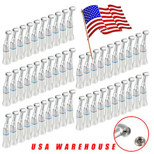 50pcs Dental Low Speed Push Press Button Contra Angle E type Handpiece Fit Nsk