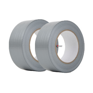 2 Rolls Utility Grade Cloth Duct Tape 2 Wide X 60 Yards Length Silver 2x60