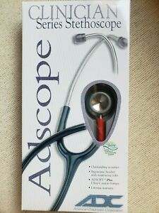 Clinician Series Adult Stainless 31 Stethoscope Adc 603r red Latex Free