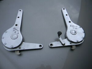 Orig Porsche Early 356 T6 Seat Recliners Hinges Pair Coupe Cabriolet Left Side